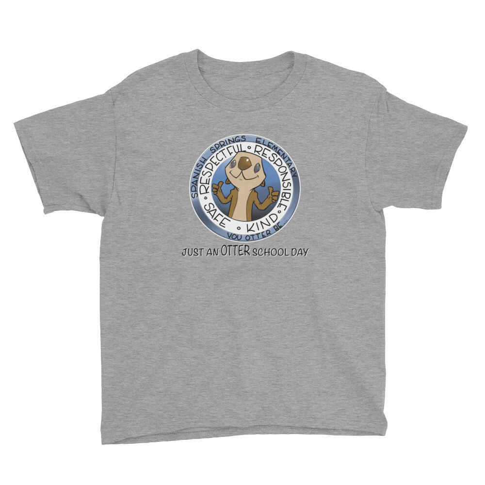 New SSES JUST AN OTTER SCHOOL DAY Youth Short Sleeve T-Shirt