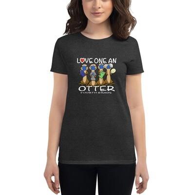 Love one an Otter (masks) Women's short sleeve t-shirt