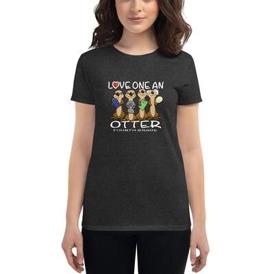 Love one an Otter Women's short sleeve t-shirt