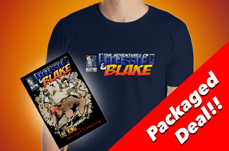 Limited Edition Professor G & Blake Shirt and Signed Comic Deal - Short-Sleeve Unisex T-Shirt & Signed Comic