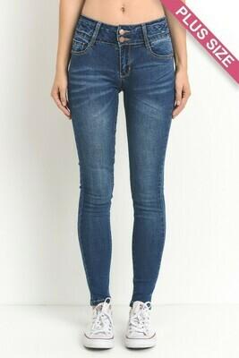 skinny-fit stretch denim jeans