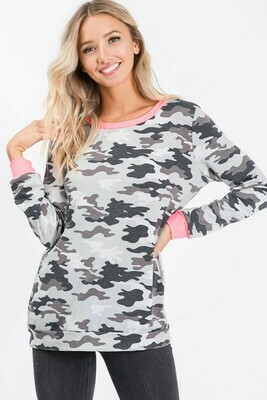 CAMOUFLAGE FRENCH TERRY PULL OVER