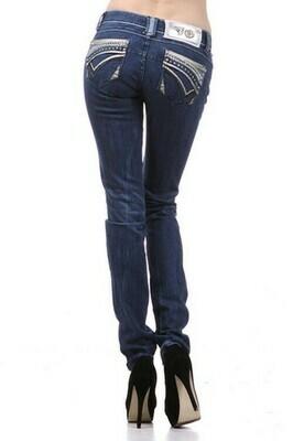Medium dark skinny jeans