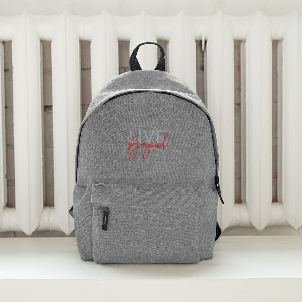 Embroidered 'LIVE Beyond' Backpack