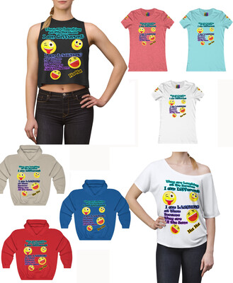 FUN FACTS LAUGHING Tops - Women's Tee, Crop Top, Hoody and Slouchy Top In a variety of colors