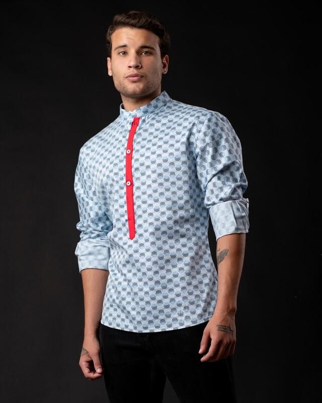 Camisa con cuello chino