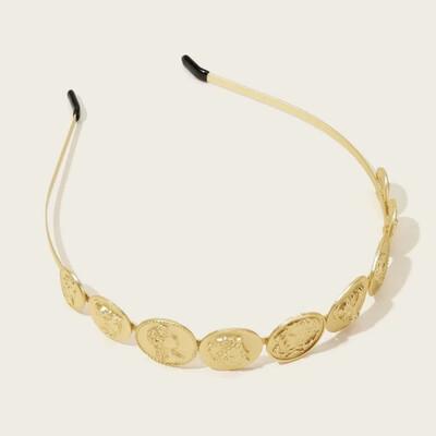 Roman Coin Metal Headband