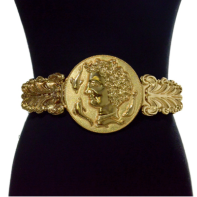 Large Coin Elastic Waist Belt