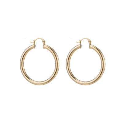 Small Chunky Gold Filled Hoops