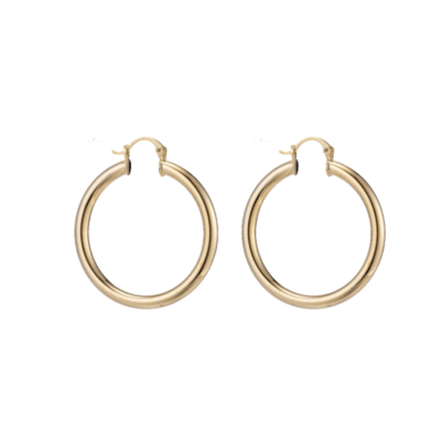 Large Chunky Gold Filled Hoops