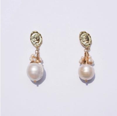 Queen Constance Pearl Drop Earrings