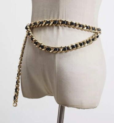 Black Chain Link Belt
