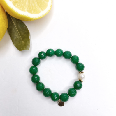 Emerald Jade with Freshwater Pearl
