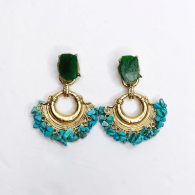 Aurora Turquoise Coral Earring