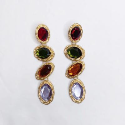 Serafina Gemstone Drop Earring