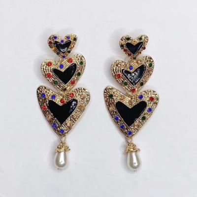 Franca Heart Drop Earring