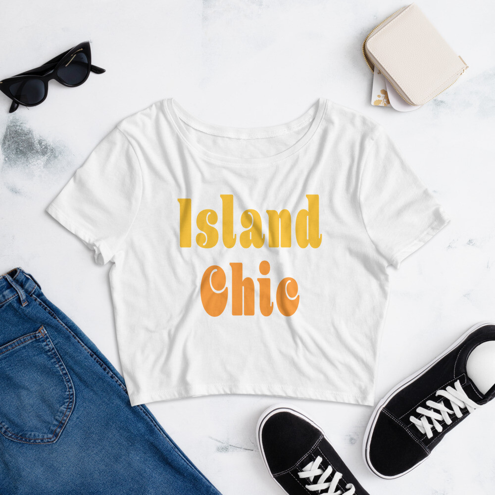 Island Chic Women's Crop Tee