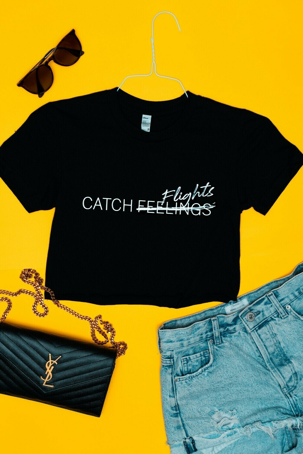 Catch Flights Women's Crop Tee