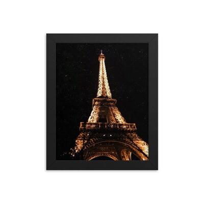Framed Paris print