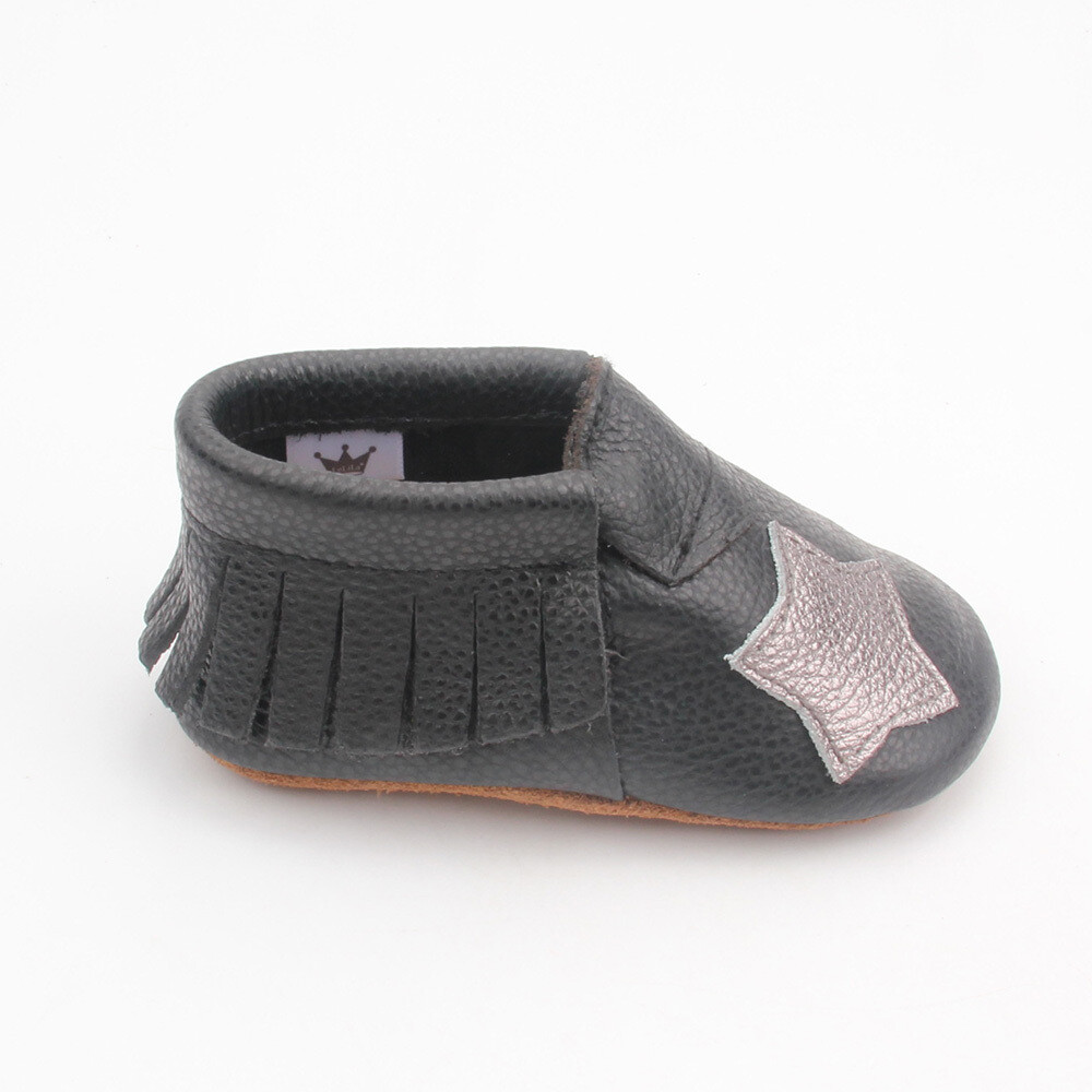 Star Moccasins  - Black