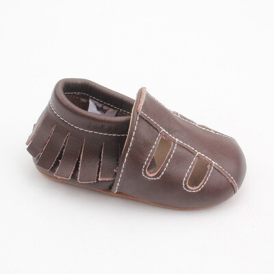 Sandal Moccasins - dark brown