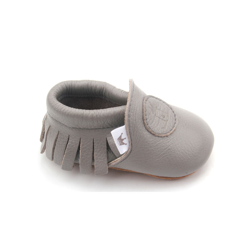 Classic Moccasins  - Grey