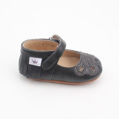Moccasins - Mary Jane Sparkle - Black