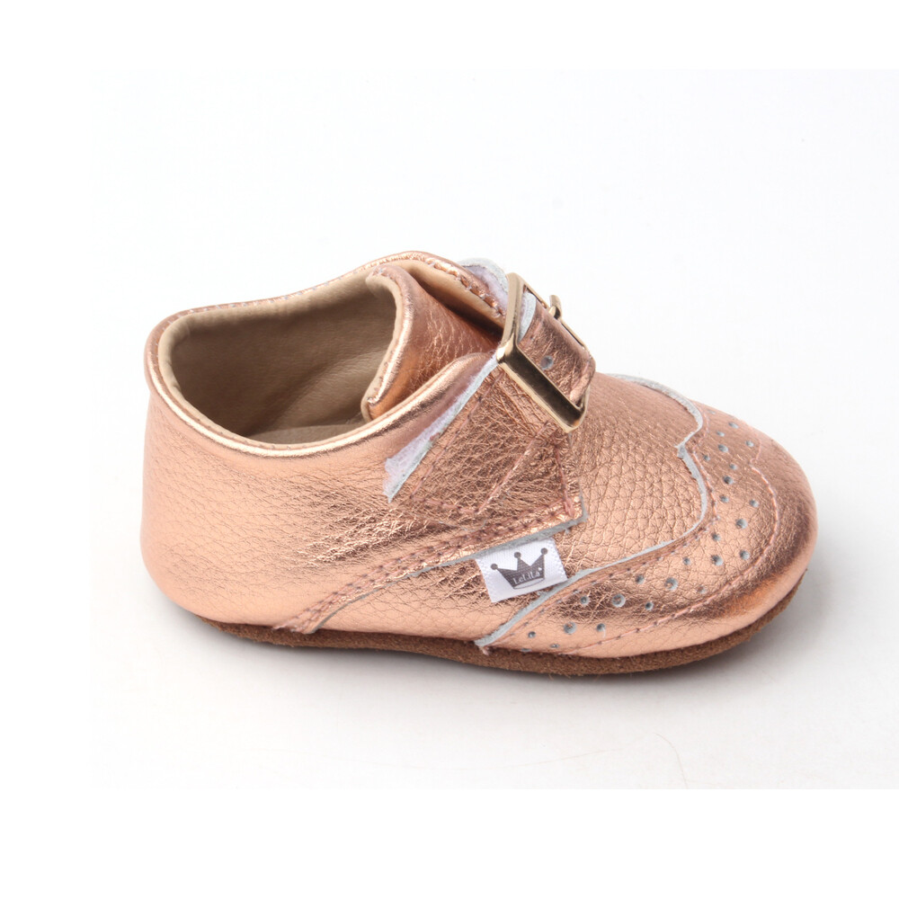 Oxford Ankle Bootie - Rose Gold