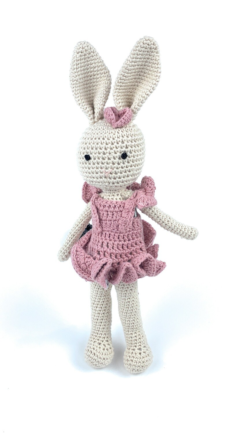Crochet Bunny - Mom pink