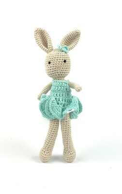 Crochet Bunny - Girl turquoise