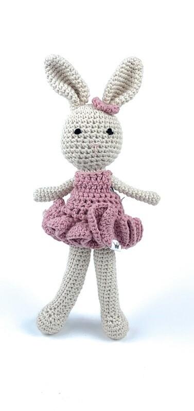 Crochet Bunny - Girl pink
