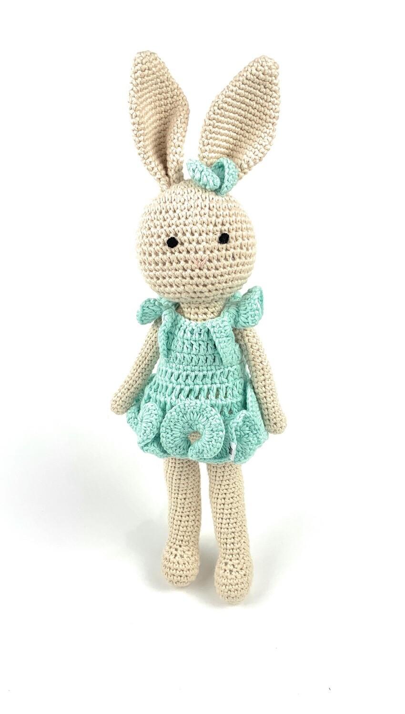 Crochet Bunny - Mom turquoise