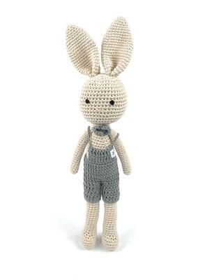 Crochet Bunny - Dad Grey