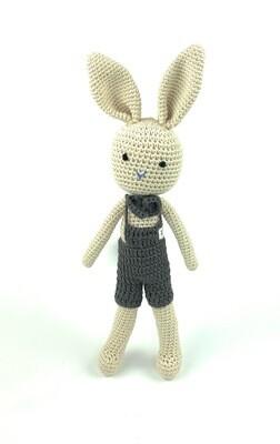 Crochet Bunny - Dad Brown