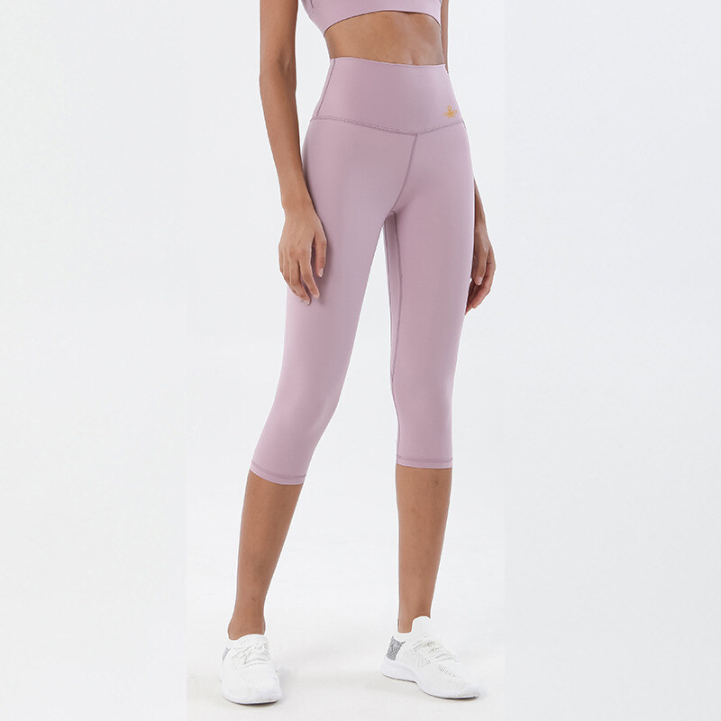 Cropped Leggings Yoga Pants seamless - light purple