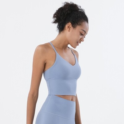 Active Yoga Top Bra - light blue