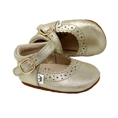 Oxford Mary Jane's - Gold Sparkle