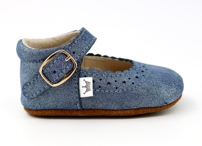 Oxford Mary Jane's - Blue Sparkle