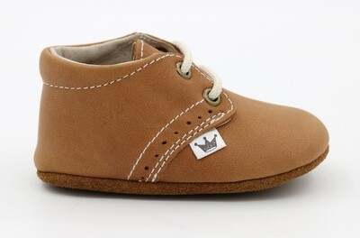 Oxford Lace-up Leather Shoes - Brown