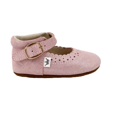 Oxford Mary Jane's - Pink Sparkle
