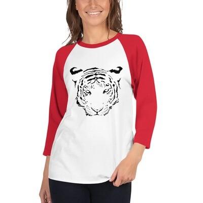 TIGER Women's 3/4 sleeve raglan shirt (multiple colors available)