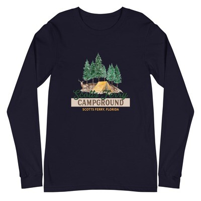 Scotts Ferry Campground Unisex Long Sleeve Tee (multiple colors available)