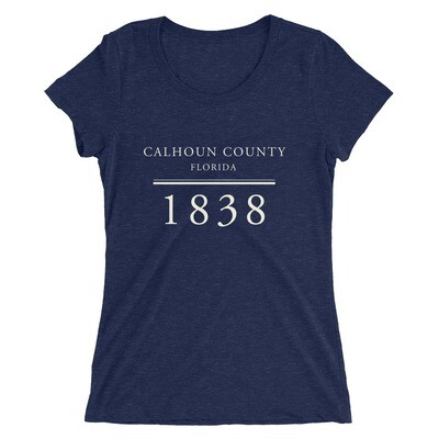 Calhoun County 1838 Tee CREAM FONT (multiple colors available)