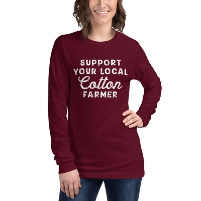 Support Cotton Farmers Unisex Long Sleeve Tee (multiple colors available)
