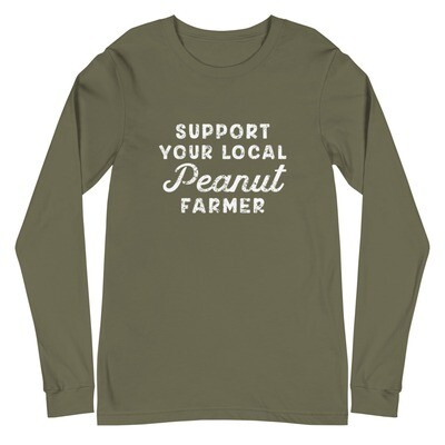 Support Peanut Farmers Unisex Long Sleeve Tee (multiple colors available)
