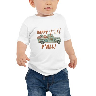 Happy Fall Y'all Baby Tee (multiple colors available)