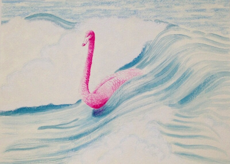 'No Traffic' from the watercolour series: 'Pink Swan Event'.