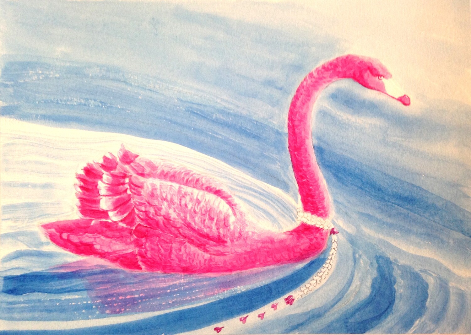 'Pink Swan Gala Event' from the watercolour series 'Pink Swan Event'.