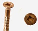 Silicone bronze wood screws/#6/sq. drive
