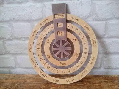 Настенный календарь из дерева